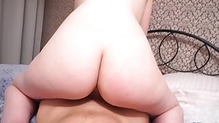 Cute redhead enjoys big dick