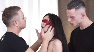 3some party with DP and facial