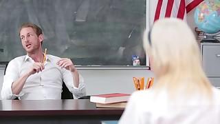 Crazy schoolgirl gets and by teacher